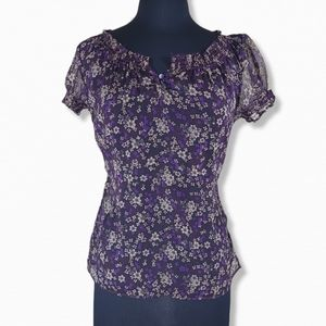 Converse One Star Sheer Floral Blouse